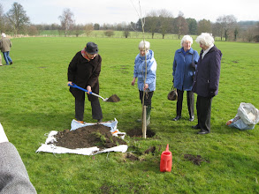 Photo: Planting the WI 90th Anniversary tree 7th March 2009