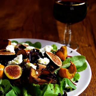 Roast Pumpkin and Fig Salad.