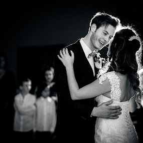 First Dance as Husband & Wife by Paul Duane - Wedding Reception ( married, black and white, wedding, happy, dance )