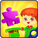 Puzzles for kids - professions icon
