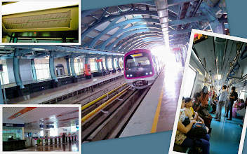 Photo: Bangalore Metro (Namma Metro: http://bmrc.co.in/). Although currently operational stations are very limited, soon it will be an important transportation for Bangalore citizens and I envy them! Dear poor and slow Pune, you will have no idea of having one in the immediate future.. Moreover, I still felt like as if I were in a dream to catch such a state-of-the-art train in India, when walked out from the M. G. Road station along with city dwellers. 4th March updated -http://jp.asksiddhi.in/daily_detail.php?id=472