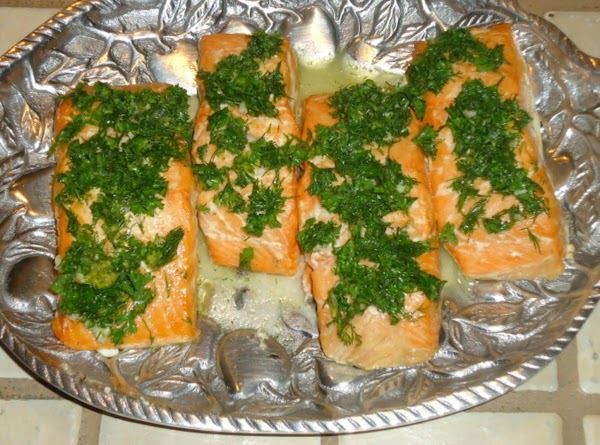 Plank- Grilled Lemon Salmon Recipe