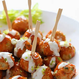 Buffalo Chicken Meatballs.