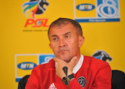 Orlando Pirates' coach Milutin Sredojevic speaks to the media ahead of their MTN8 quarterfinal match against SuperSport United on August 9 2018 at PSL Offices in Parktown, Johannesburg.