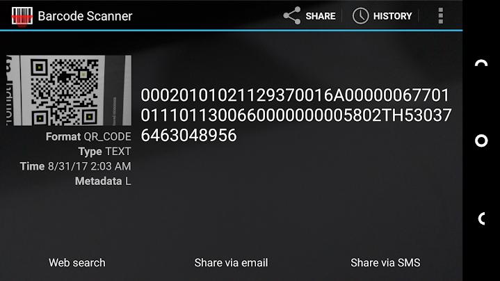 (引用元:blognone.com タイのQRコードをスキャンしたもの。EMVCo という規格を用いているそうです)