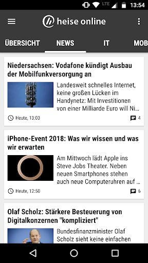 heise online - News 3.4.2 screenshots 2