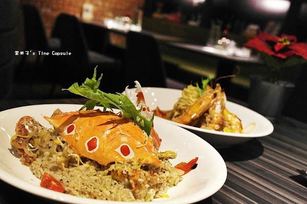 鮮美的松露螃蟹燉飯+蒜爆海大蝦義大利麵~洋城義大利餐廳(安平家樂福)~聚餐首選!