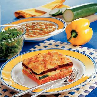Gemüselasagne mit Putenschinken