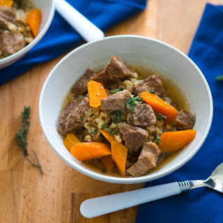 The Easiest Slow-Cooker Vegetable, Beef, and Barley Soup