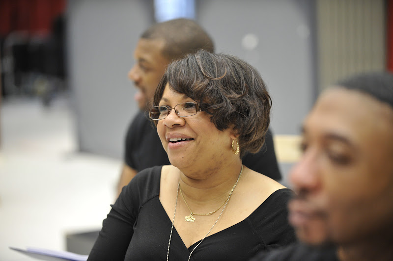 Photo: Ensemble member Shari Addison rehearses for Regina Taylor's 10th anniversary production of Crowns at Goodman Theatre (June 30 – August 5).