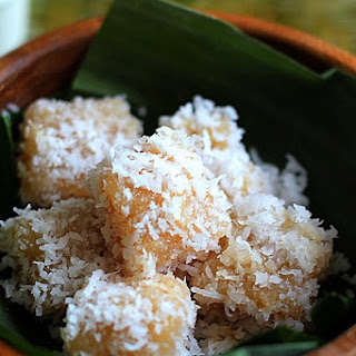 Cassava Cake with Shredded Coconut.