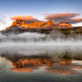 Sunrise Redfish Lake Idaho by Charles Knowles - Landscapes Mountains & Hills
