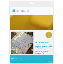 Silhouette 8.5X11 Foil Transfer Sheets 6/Pkg - Gold