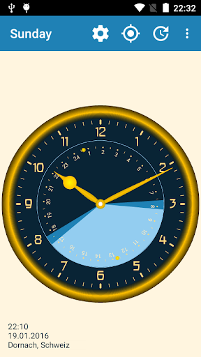 Sunday - Astronomical Clock Widget screenshot 3