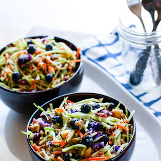 Creamy Blueberry Broccoli Slaw Salad