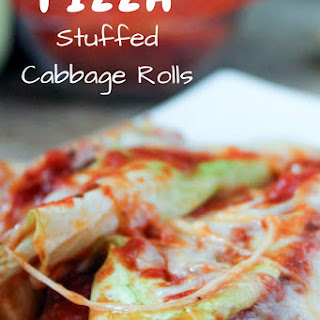 Pizza Stuffed Cabbage Rolls.