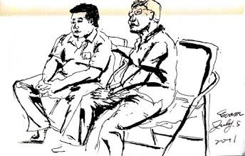 Photo: 不理采2011.07.05鋼筆 強制性的個案不是主動求助者,既然又是法務部辦的保護管束課程,那麼能拖多久就耗多久,坐著…不動如山…