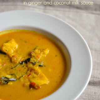 Fish Curry in Ginger and Coconut Milk Sauce