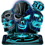 App Neon Tech Evil Skull 3D Theme APK for Windows Phone