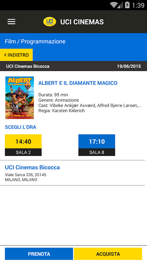 UCI CINEMAS ITALIA- screenshot