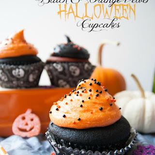 Black & Orange Velvet Halloween Cupcakes