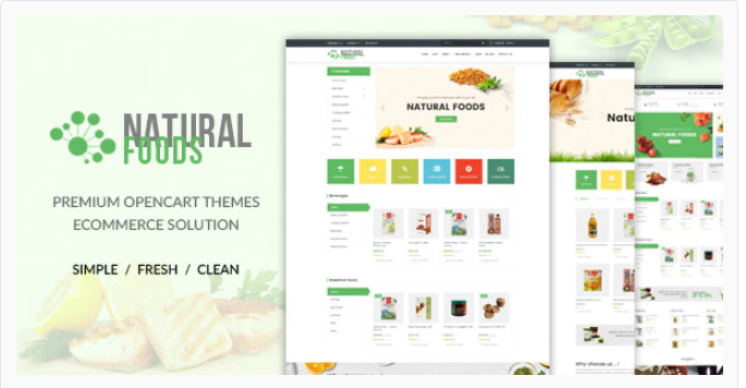 excellent Opencart food store theme