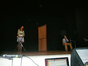 Photo: Amy and Kristin during their skit