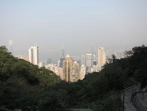 Photo: Hong Kong and Kowloon beyond the harbor