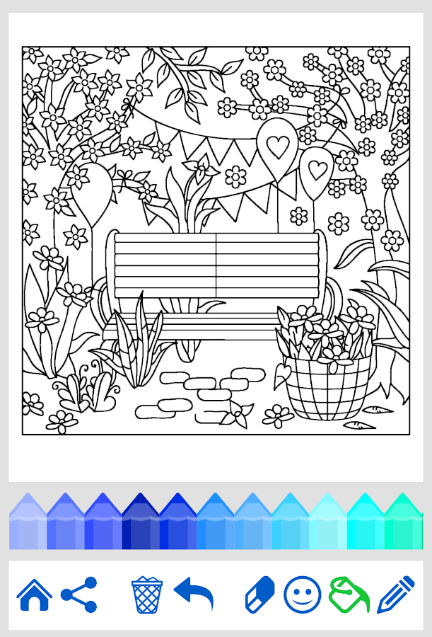 Adult Coloring Flowers