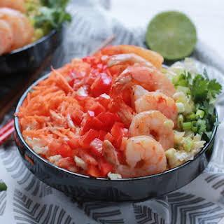 Asian Shrimp and Rainbow Slaw Bowls.