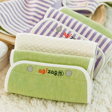 Organic cotton carrier pads set