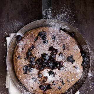 Blueberry Oat and Polenta Pancakes