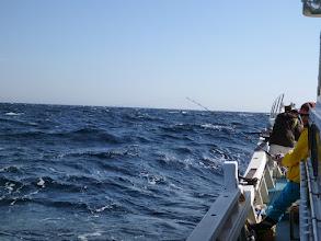 Photo: 波も高く、アンカー潮・・・最悪です。