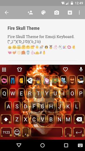 Fire Skull EmojiKeybaord Theme
