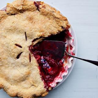 Plum and Raspberry Pie