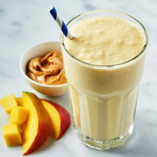 Mango Mayhem Peanut Butter Smoothie.