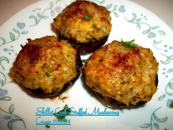 Crab Stuffed Mushrooms - Scrumptious