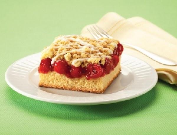 Glazed Cherry Crumb Cake Recipe