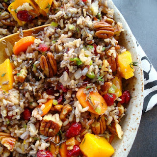 Wild Rice Pilaf with Cranberries and Pecans