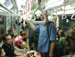 Photo: SotM delegates take over a whole subway carriage