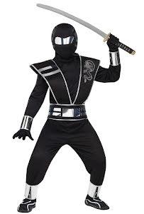 Ninja med spegelmask barn