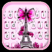 ثيم لوحة المفاتيح Eiffel Tower Bowknot APK