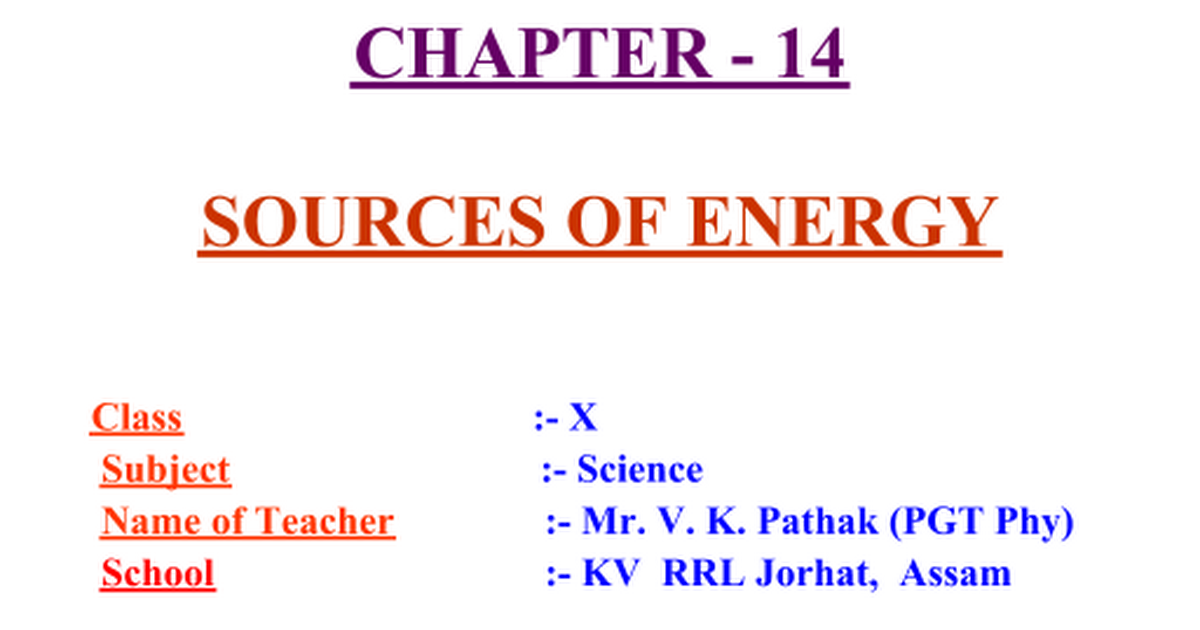 Ppt of science for class 10