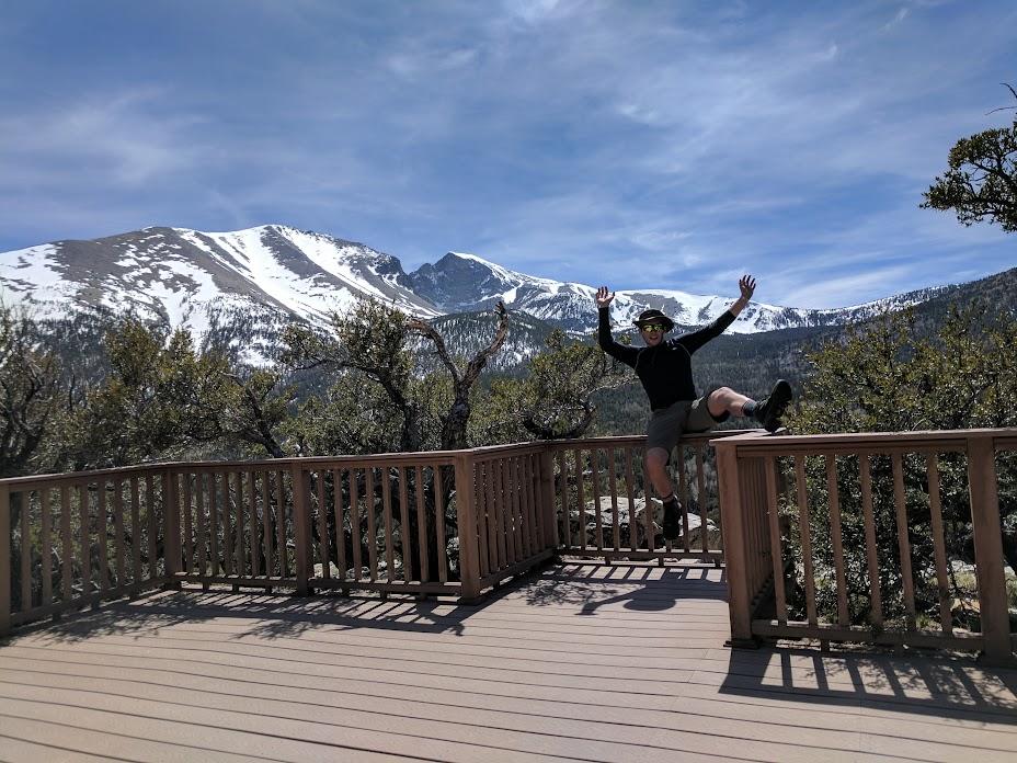 Happy return from Wheeler Peak (in the background)