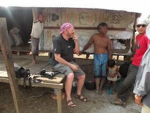 Photo: Landmine survivor Sakhorn with Terry from 2020 studios