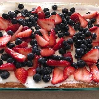 Strawberry Jello Poke Cake.