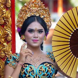 Gita by Budiono Nyoman - People Portraits of Women ( #lombok #models #beauty #balinese #dancer )