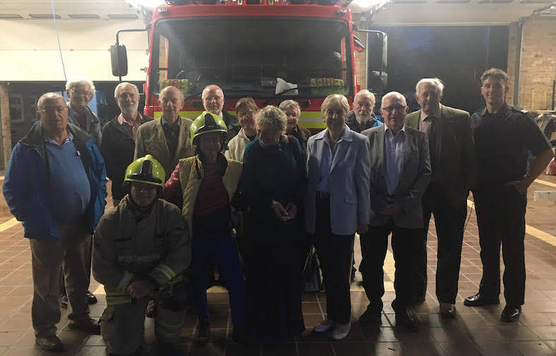 "Rotary visit ""extraordinary"" fire fighters"