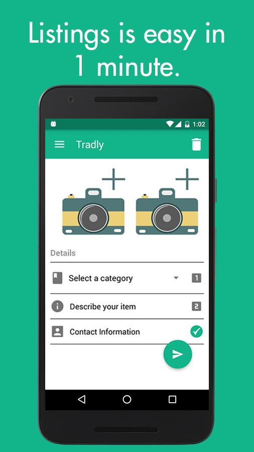 Tradly - Chat, Buy, Sell & Donate stuff you love- screenshot