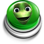 Green alien dance button